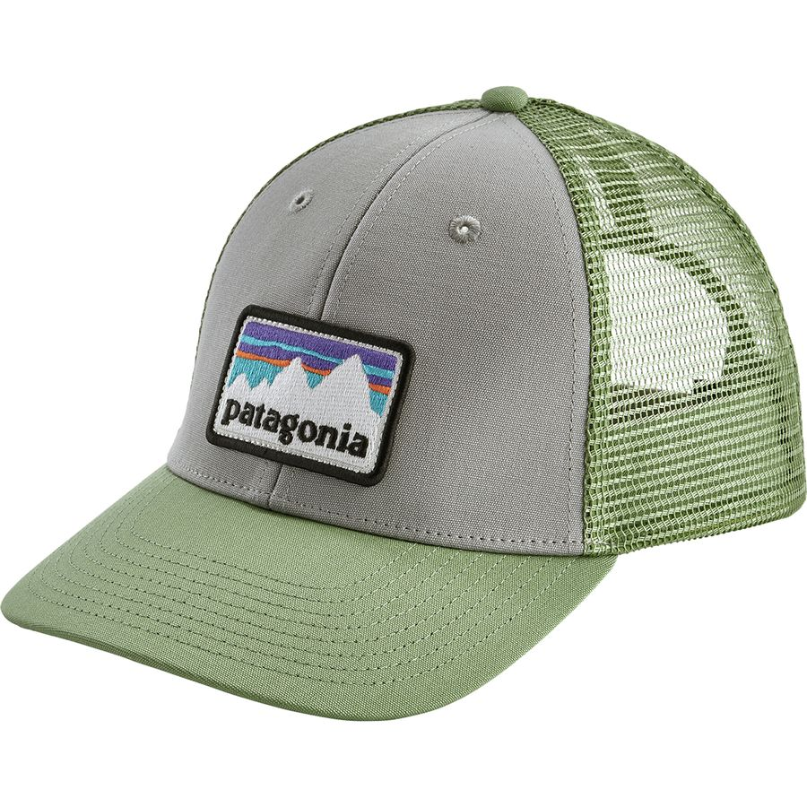 5339bf6f50e Patagonia - Shop Sticker Patch LoPro Trucker Hat - Drifter Grey Matcha Green