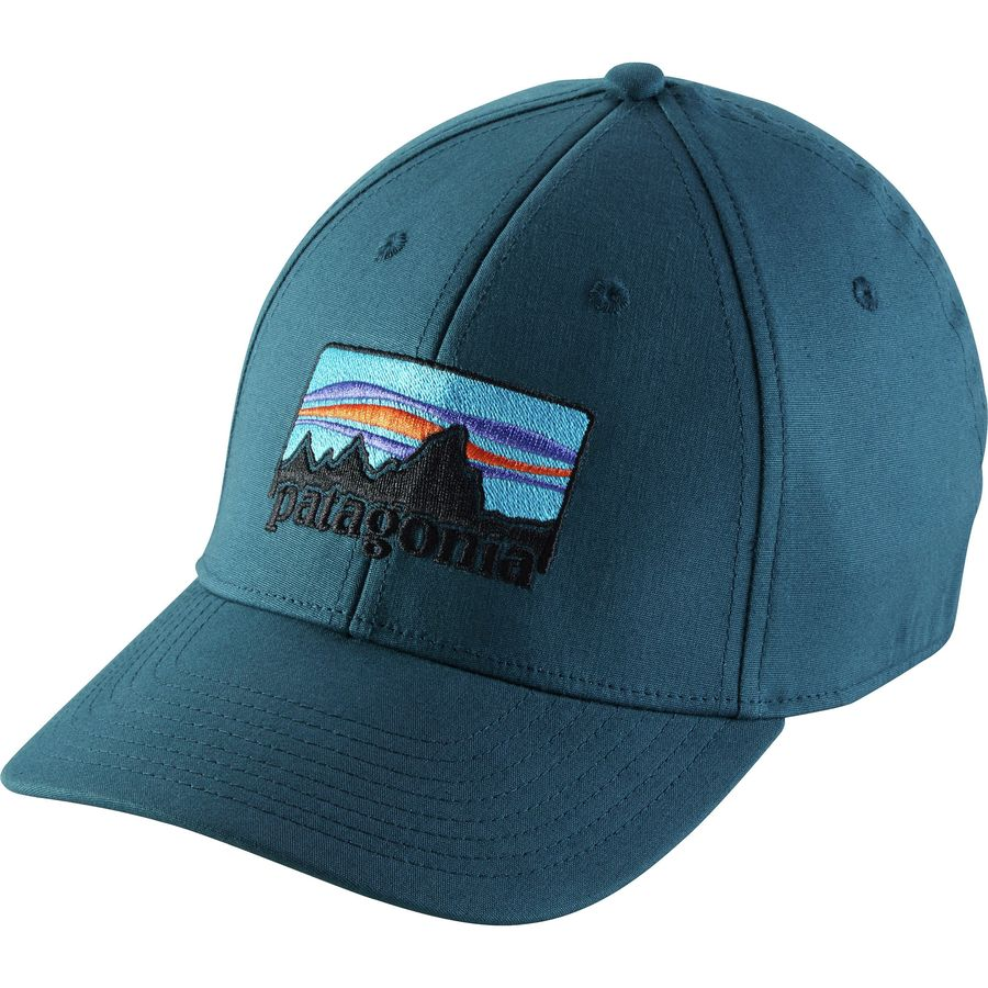 Patagonia -  73 Logo Stretch Fit Hat - null afa40e038c6