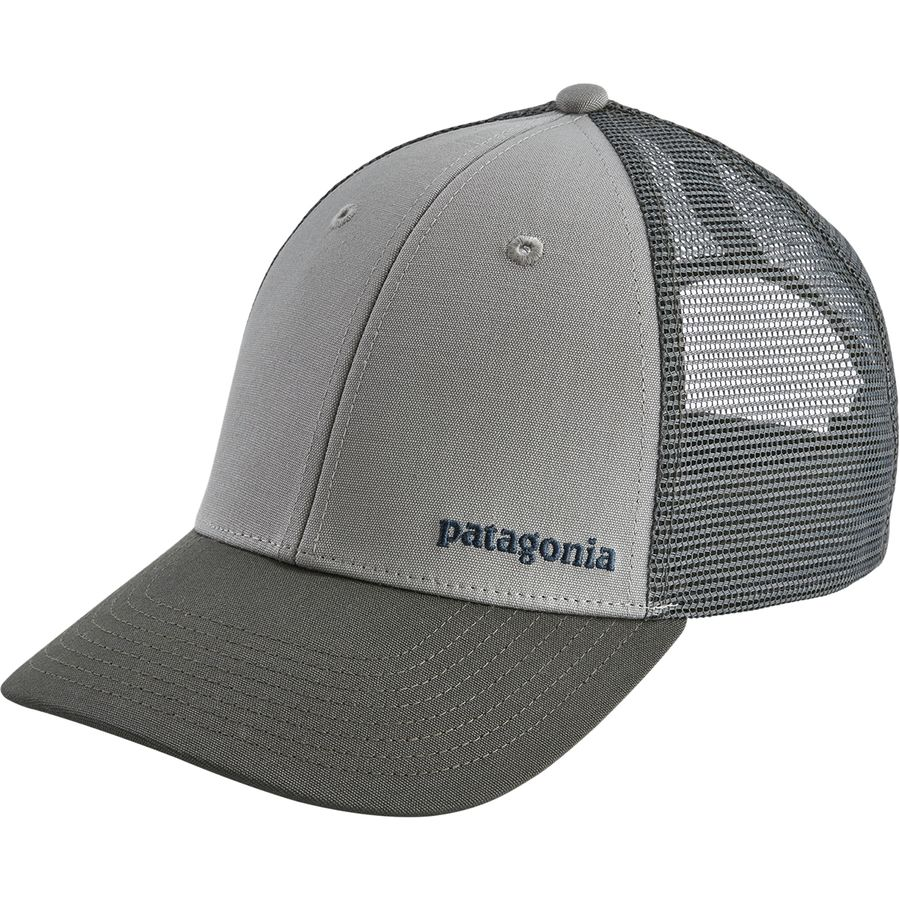 Patagonia - Small Text Logo LoPro Trucker Hat - Drifter Grey Forge Grey a5166fd1fc55