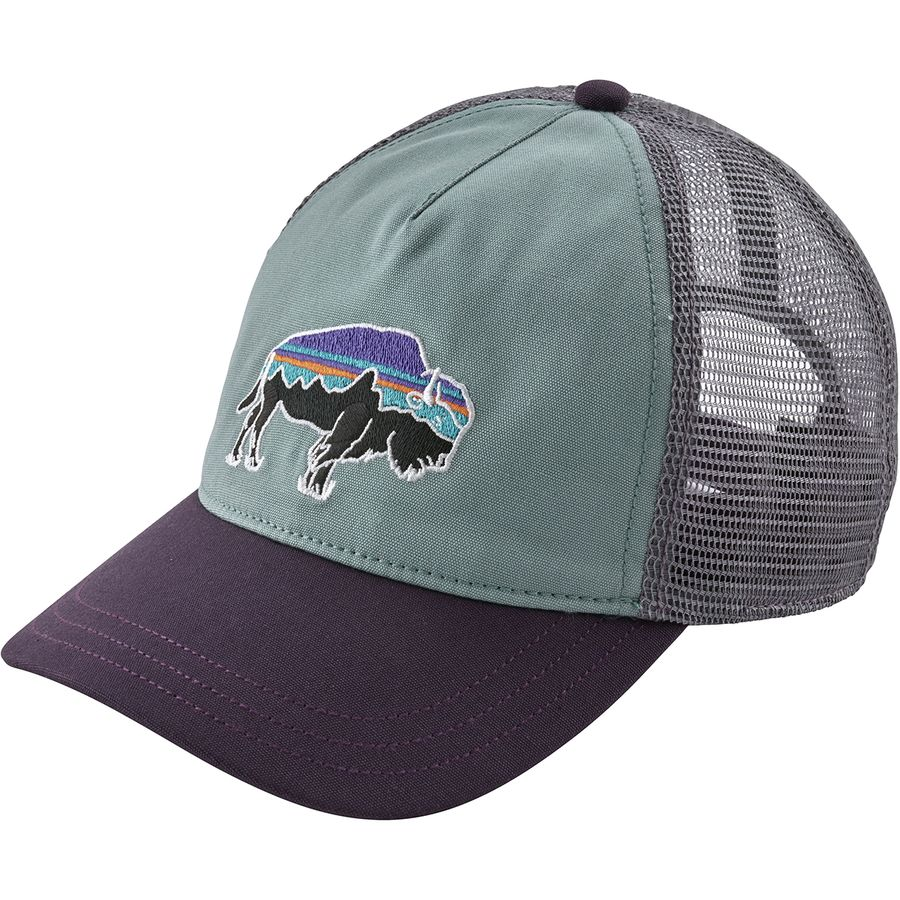 Patagonia - Fitz Roy Bison Layback Trucker Hat - Women s - Cadet Blue 848e3804cd33