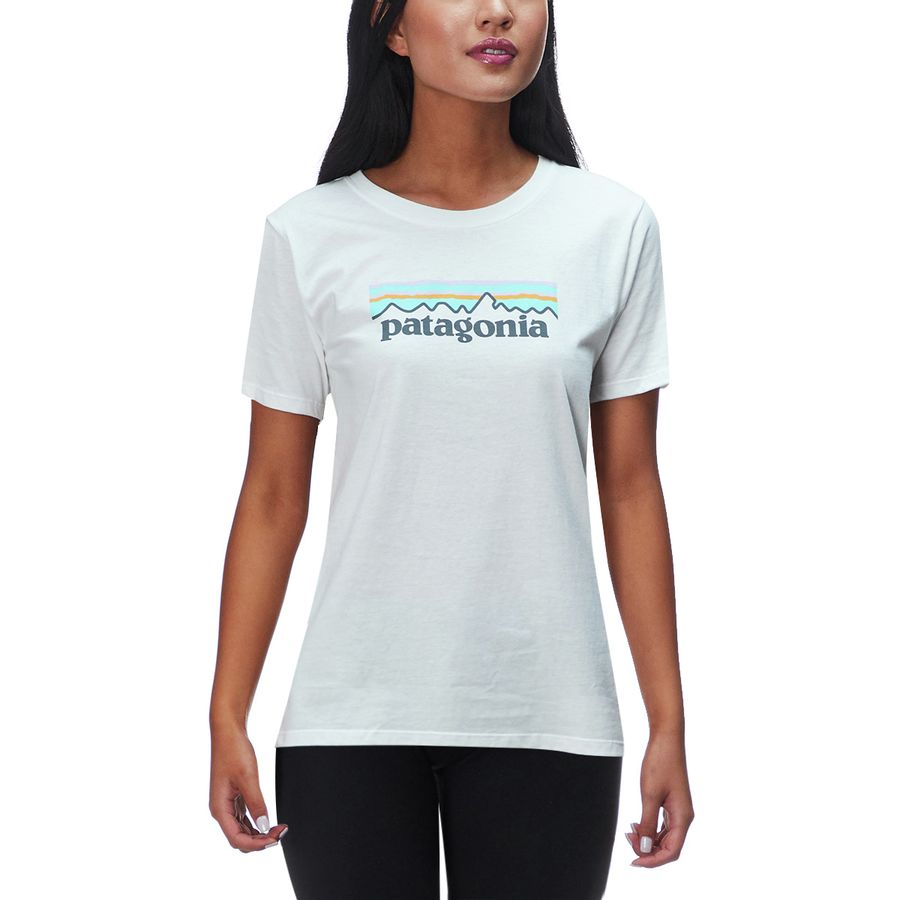 Patagonia Pastel P-6 Logo Cotton Crew Shirt - Womens