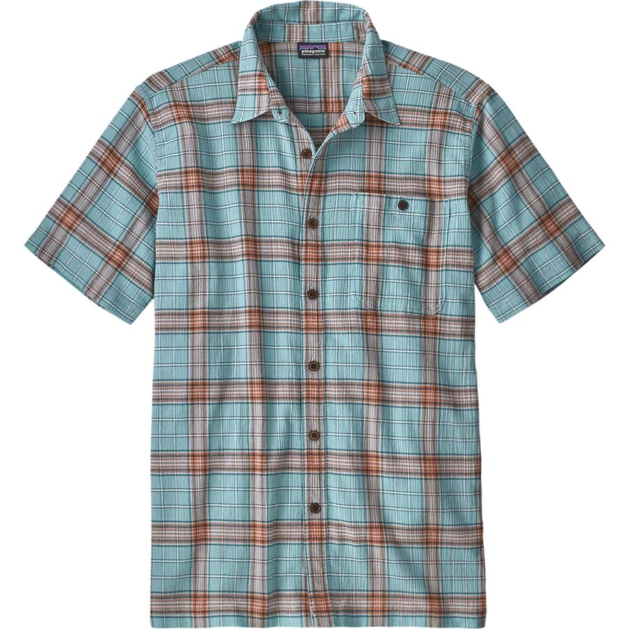 e344cf041d1 Patagonia - A C Short-Sleeve Shirt - Men s - Arthur Dam Blue