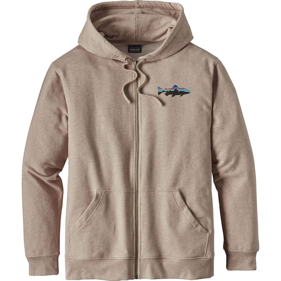 Patagonia Small Fitz Roy Trout Midweight Full-Zip Hoodie - Mens