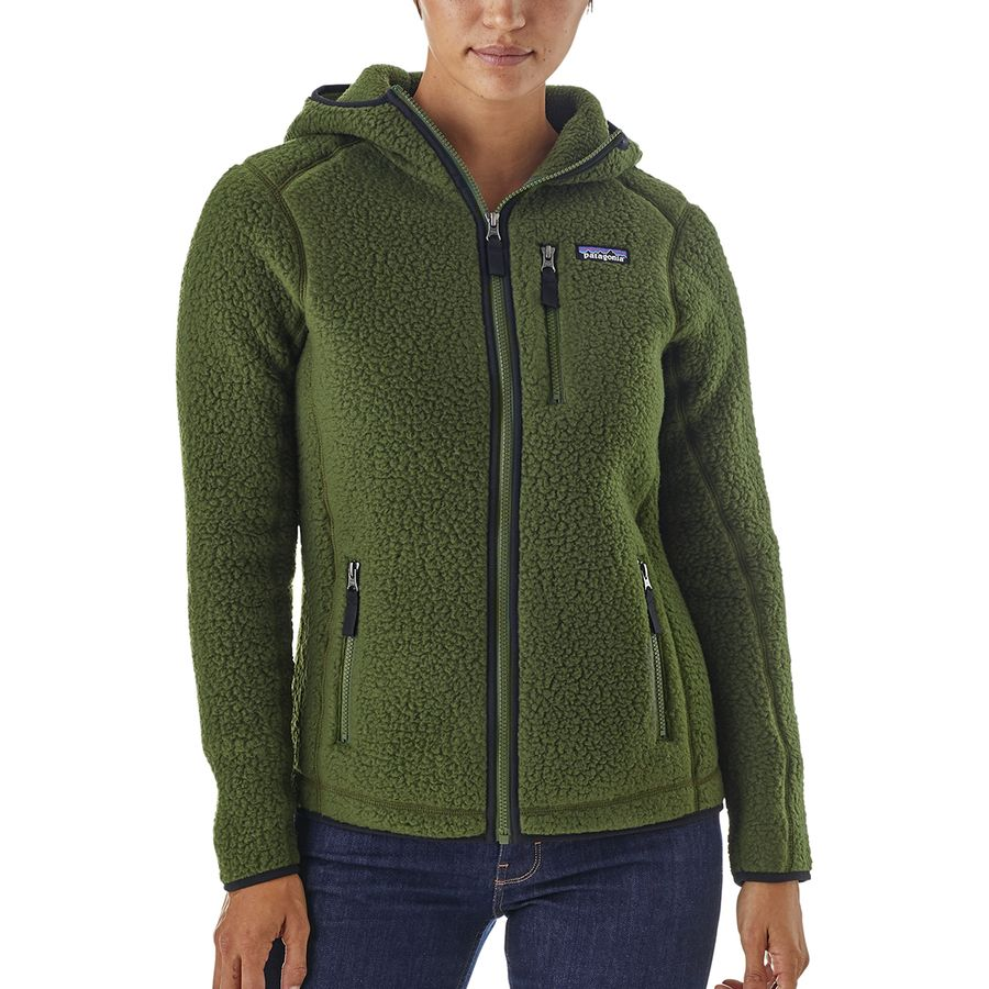 Patagonia - Retro Pile Hooded Jacket - Women s - Nomad Green e75db60dd7
