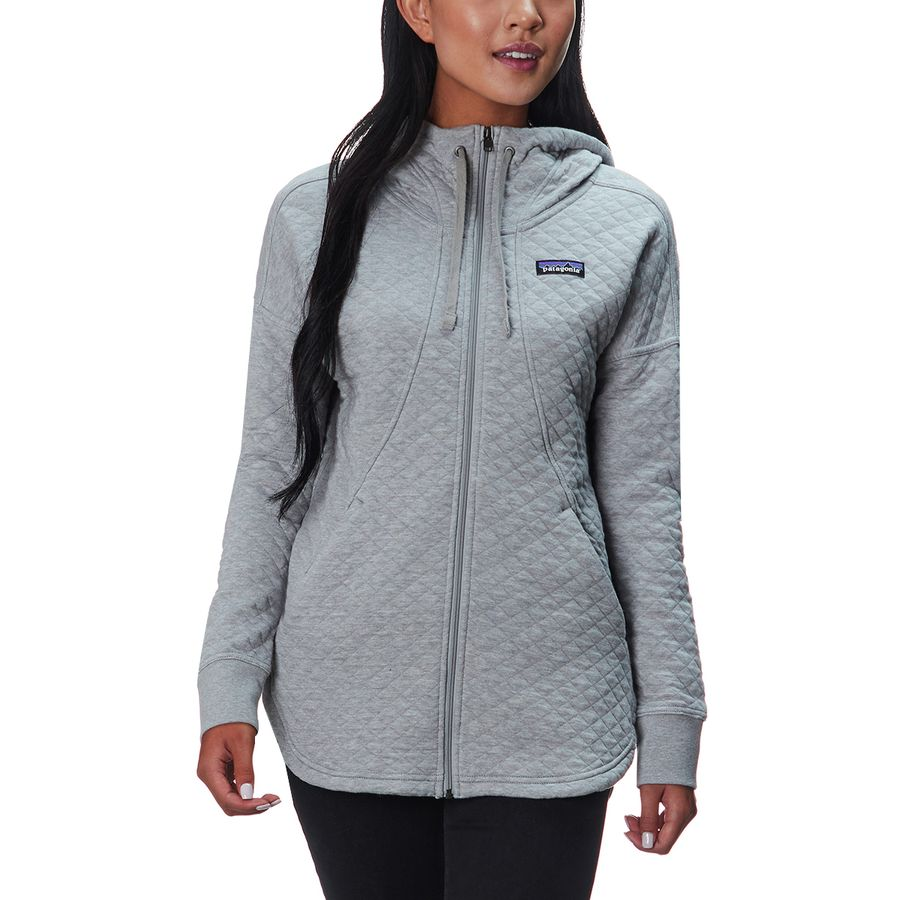 Patagonia Organic Cotton Quilt Full Zip Hoodie Women S