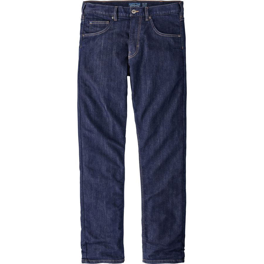 Patagonia Flannel Lined Performance Straight Fit Denim Pant - Mens