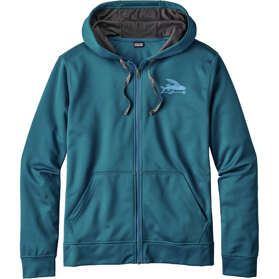 Patagonia Small Flying Fish PolyCycle Full-Zip Hoody- Mens
