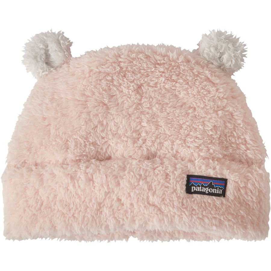 New Patagonia Furry Friends Pink Beanie Hat With Ears Infant//Toddlers Girls