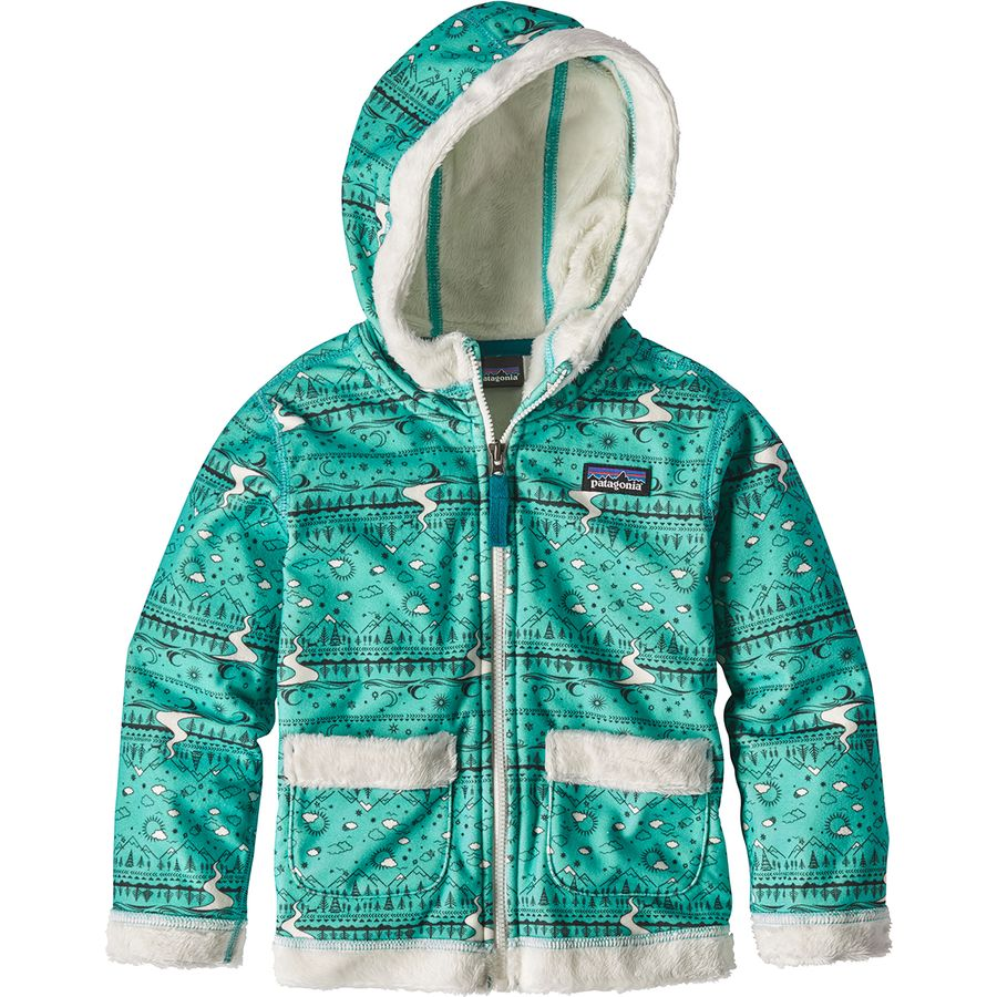 Patagonia Fuzzy Lop Hooded Fleece Jacket Infant Girls