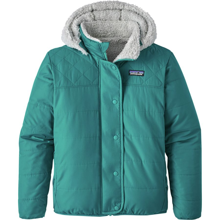 Patagonia Reversible Dream Song Hooded Down Jacket Girls