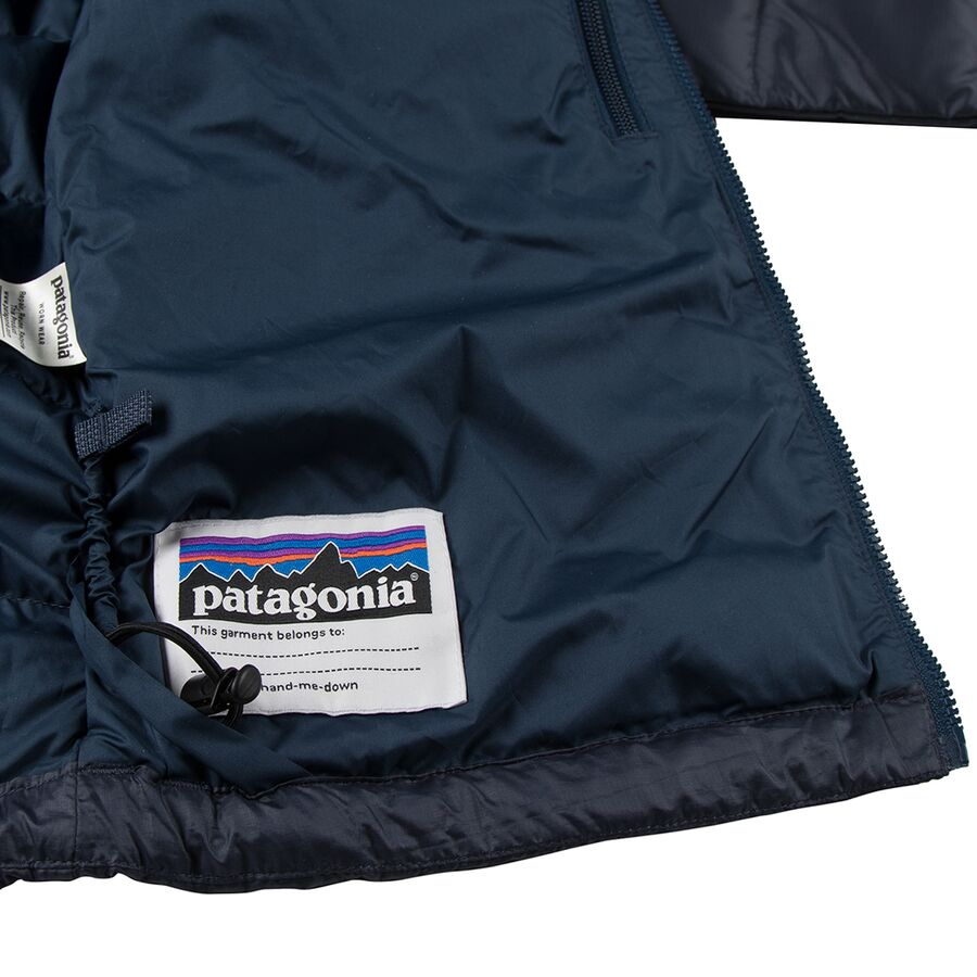 Patagonia Hi Loft Down Sweater Hooded Jacket Boys
