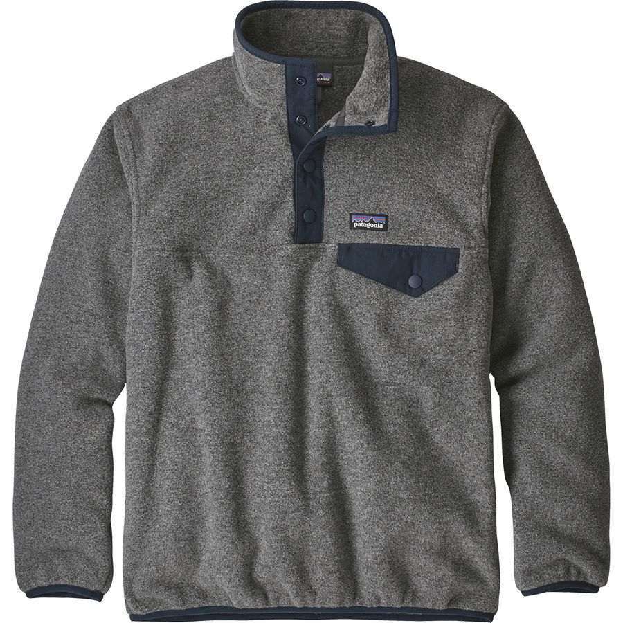 25d8791fd1a Patagonia - Lightweight Synchilla Snap-T Fleece Pullover - Boys  -  Nickel Navy