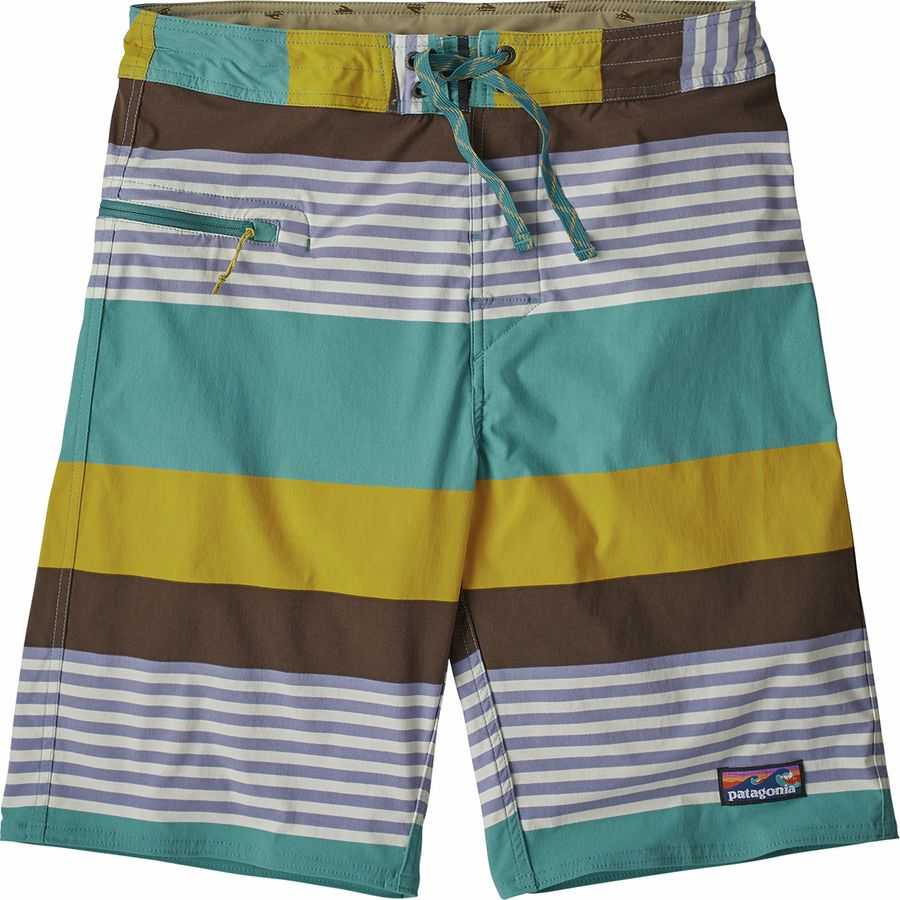 2364f99a5a346 Patagonia - Stretch Wavefarer 21in Board Short - Men's - Fitz Stripe/Dam  Blue