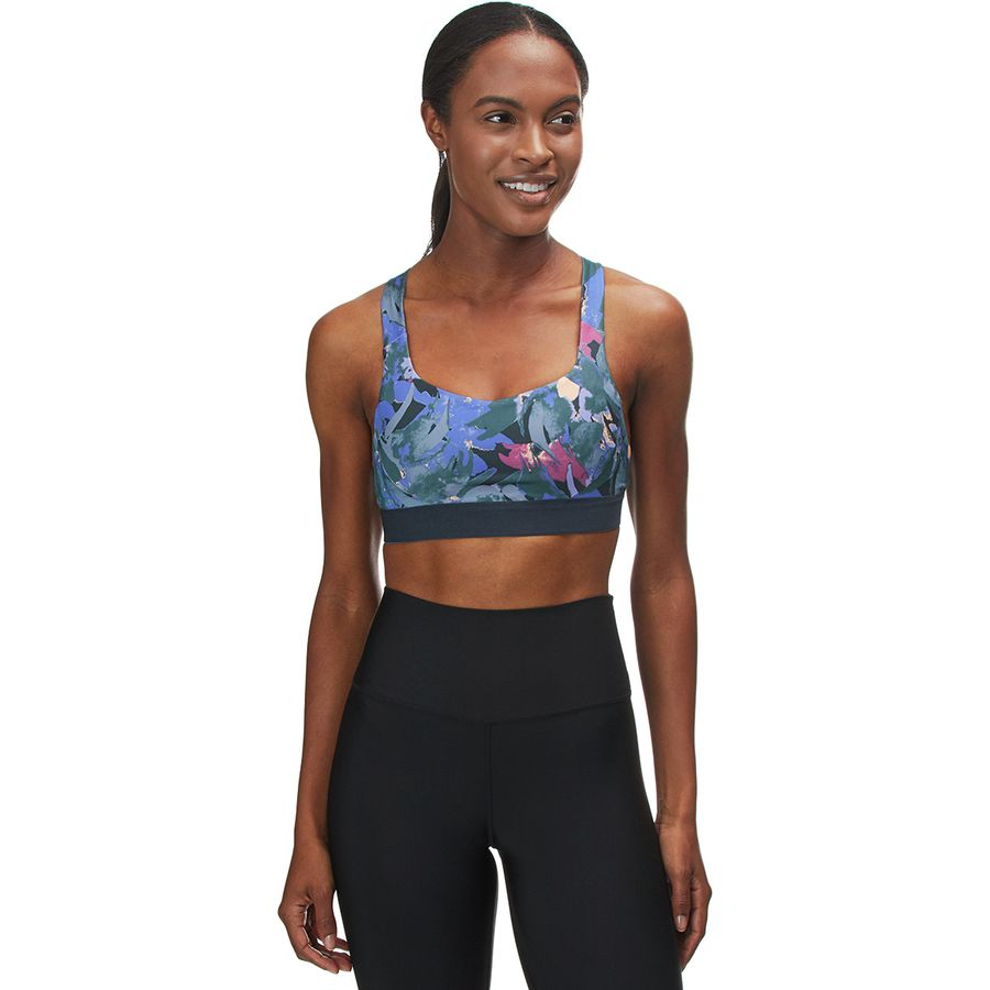 4828c64a4c604 Patagonia - Switchback Sports Bra - Women s - Abstract Jungle Smolder Blue