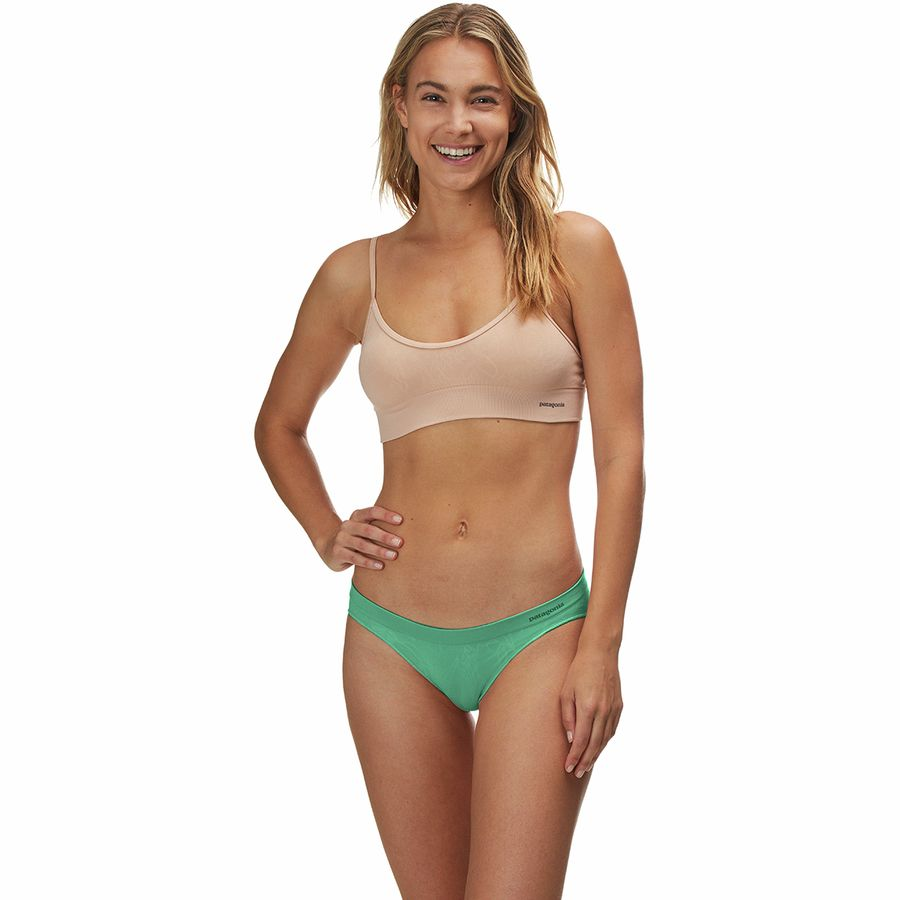 dddfc85c36198 Patagonia - Barely Bikini Underwear - Women s - Valley Flora Jacquard Beryl  Green