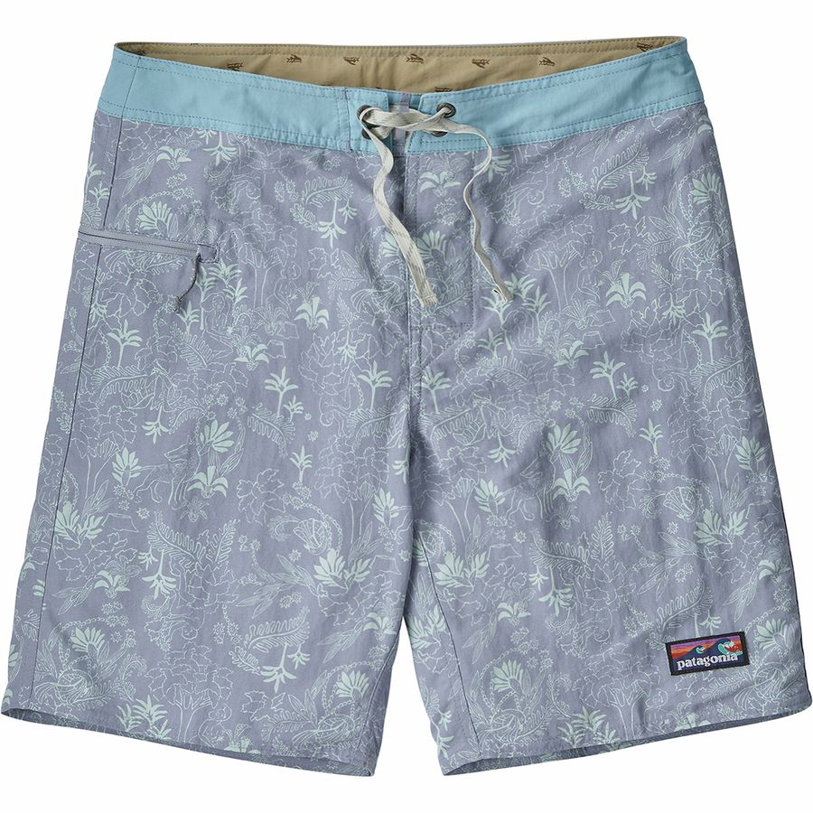 28339d7c5530f Patagonia - Wavefarer 19in Board Short - Men s - Beyond Extinction Ghost  Purple