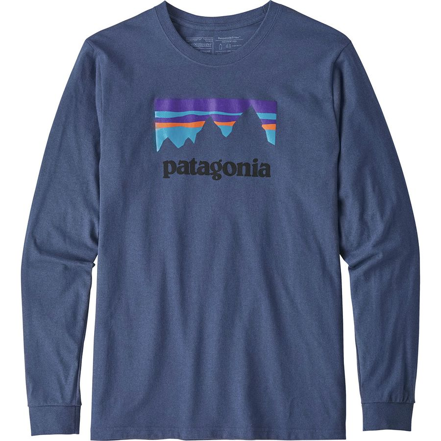 Patagonia Shop Sticker Long-Sleeve Responsibili-T-Shirt - Mens
