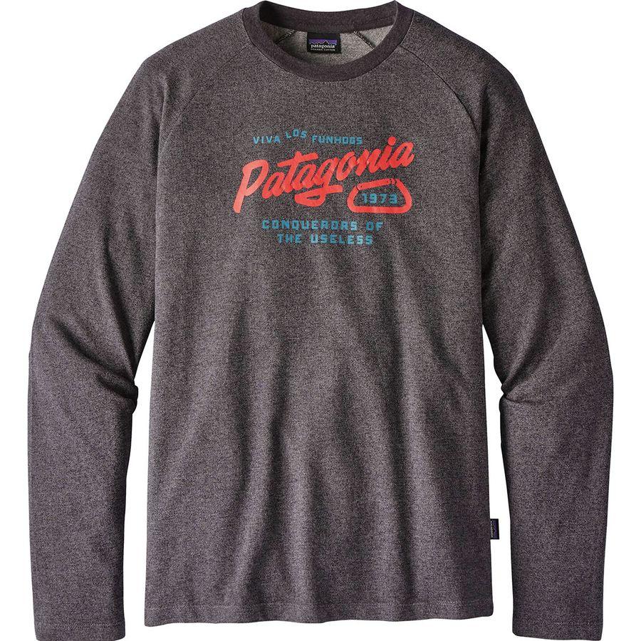Patagonia Splitter Script Lightweight Crew Sweatshirt - Mens