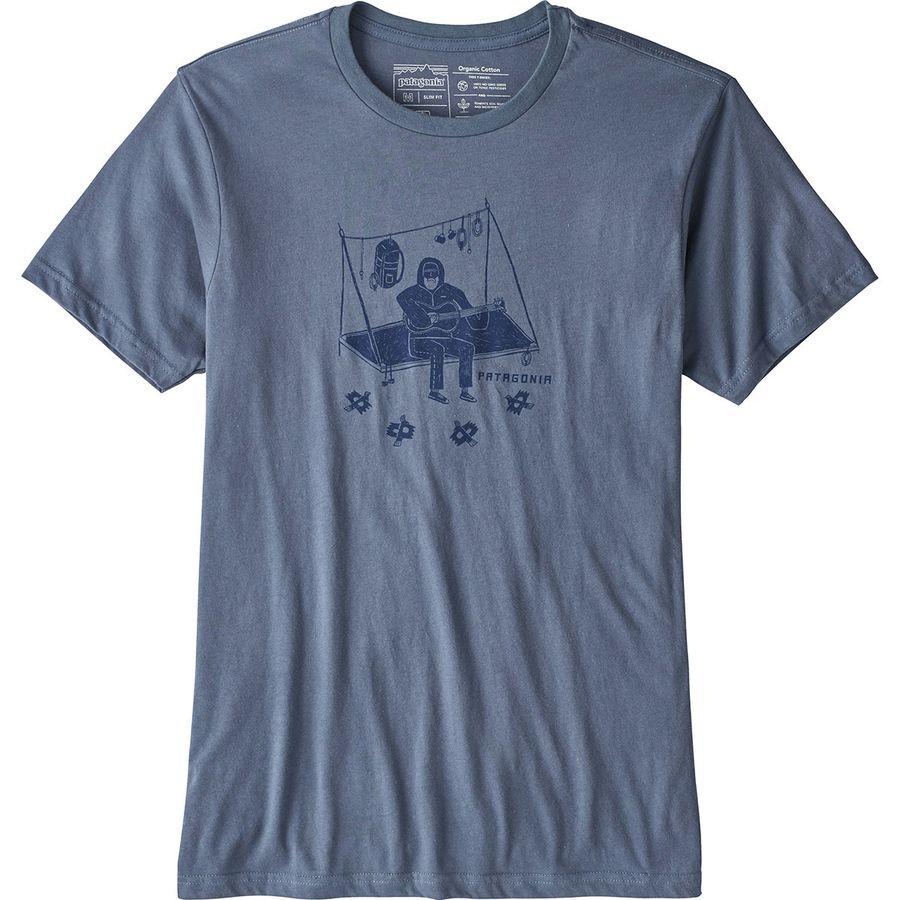 Fish, organic t-shirt, light blue for men, screen print, S, M, XL, XXL, 3XL.