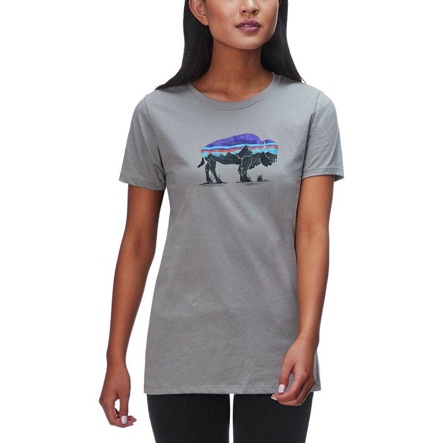Patagonia Fitz Roy Bison Organic Crew T-Shirt - Womens