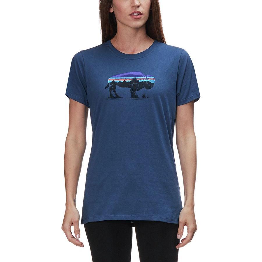 98c680f1a7a7 Patagonia - Fitz Roy Bison Organic Crew T-Shirt - Women's - Stone Blue