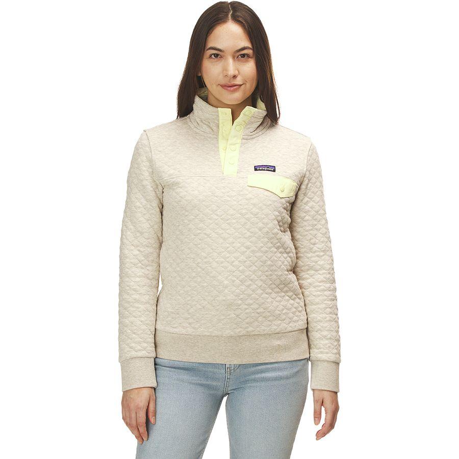 051cac495 Patagonia - Organic Cotton Quilt Snap-T Pullover Sweatshirt - Women's -  Birch White/