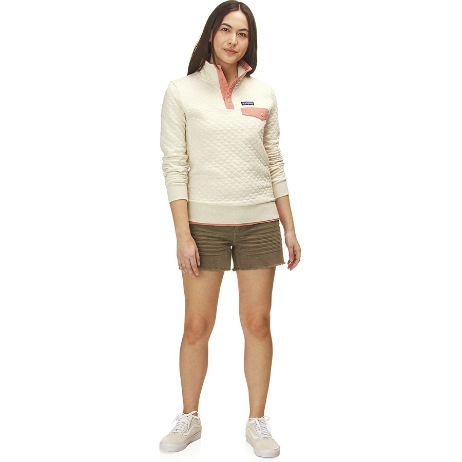 Patagonia Quilted Pullover Womens: Patagonia Organic Cotton Quilt Snap-T Pullover Sweatshirt