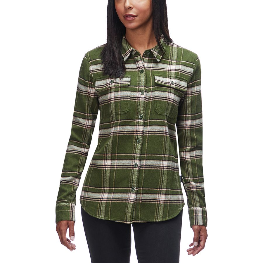 b084124fc2c Patagonia - Fjord Long-Sleeve Flannel Shirt - Women s - Activist Big Nomad  Green