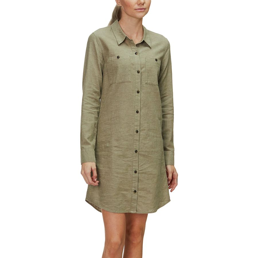9156a602e Patagonia - Sunset Valley Dress - Women s - Cross Weave Fatigue Green