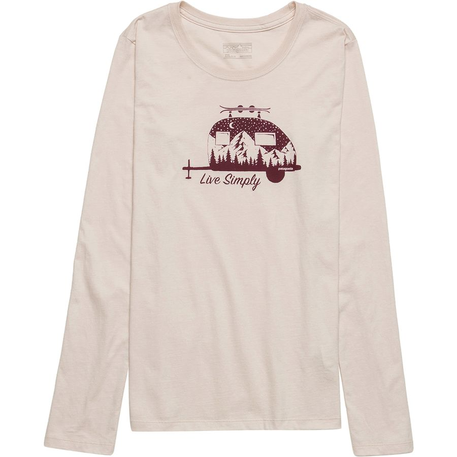 5900adb1e78f Patagonia Graphic Organic Long-Sleeve T-Shirt - Girls' | Backcountry.com