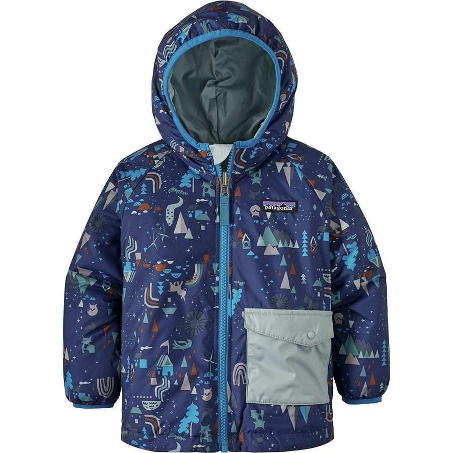 c7a1cc32201b Patagonia - Puff-Ball Reversible Jacket - Infant Boys  - Block Houses Two  Way