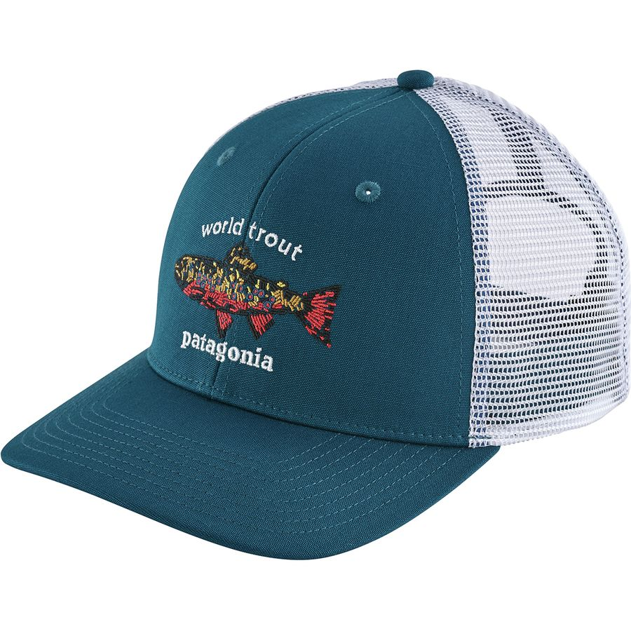Patagonia - World Trout Brook Fishstitch Trucker Hat - Men s - Big Sur Blue b36fc3e9c0e