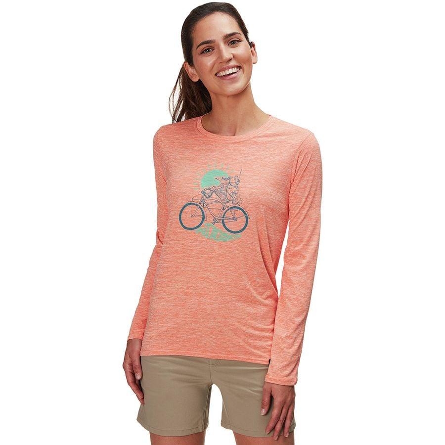3fee9ab49 Patagonia - Capilene Cool Daily Graphic Long-Sleeve Shirt - Women's -  Fisherfox/Peach