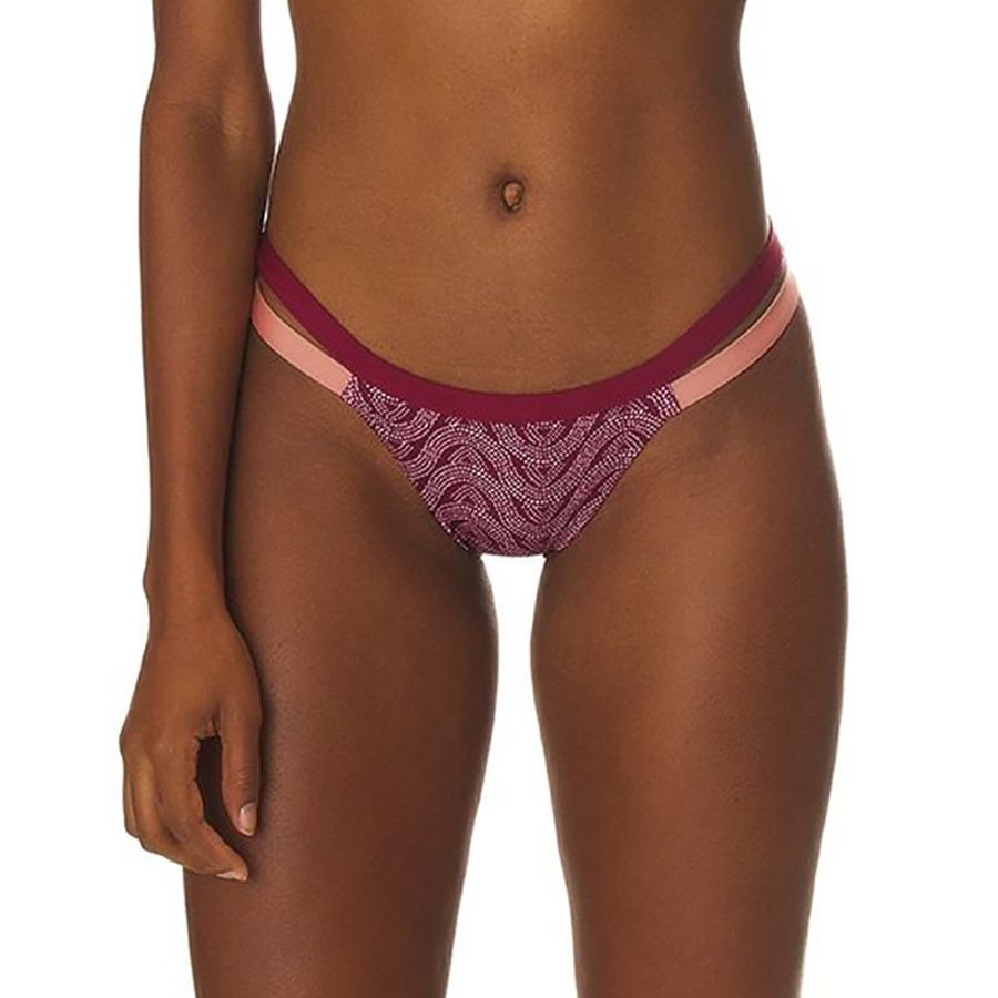 bc8f10a1f8d Patagonia - Nanogrip Banded Bikini Bottom - Women's - Bluff River/Arrow Red