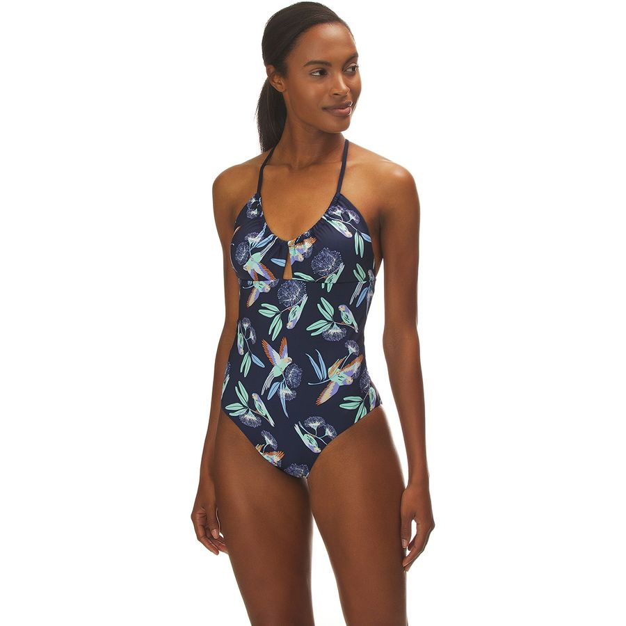 5e5a880234852 Patagonia - Glassy Dawn One-Piece Swimsuit - Women's - Parrots Small/New  Navy