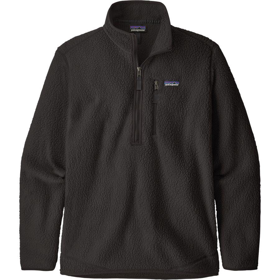 Patagonia - Retro Pile Pullover Jacket - Men's - Black