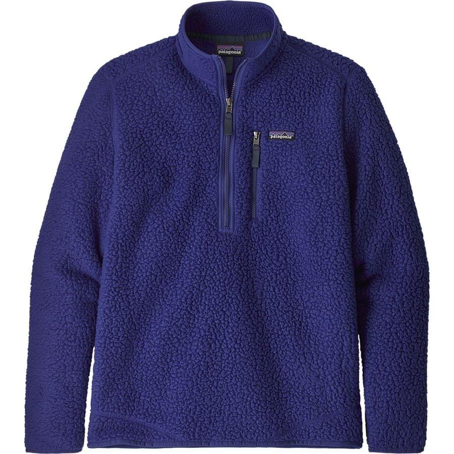 Patagonia - Retro Pile Pullover Jacket - Men's - Cobalt Blue