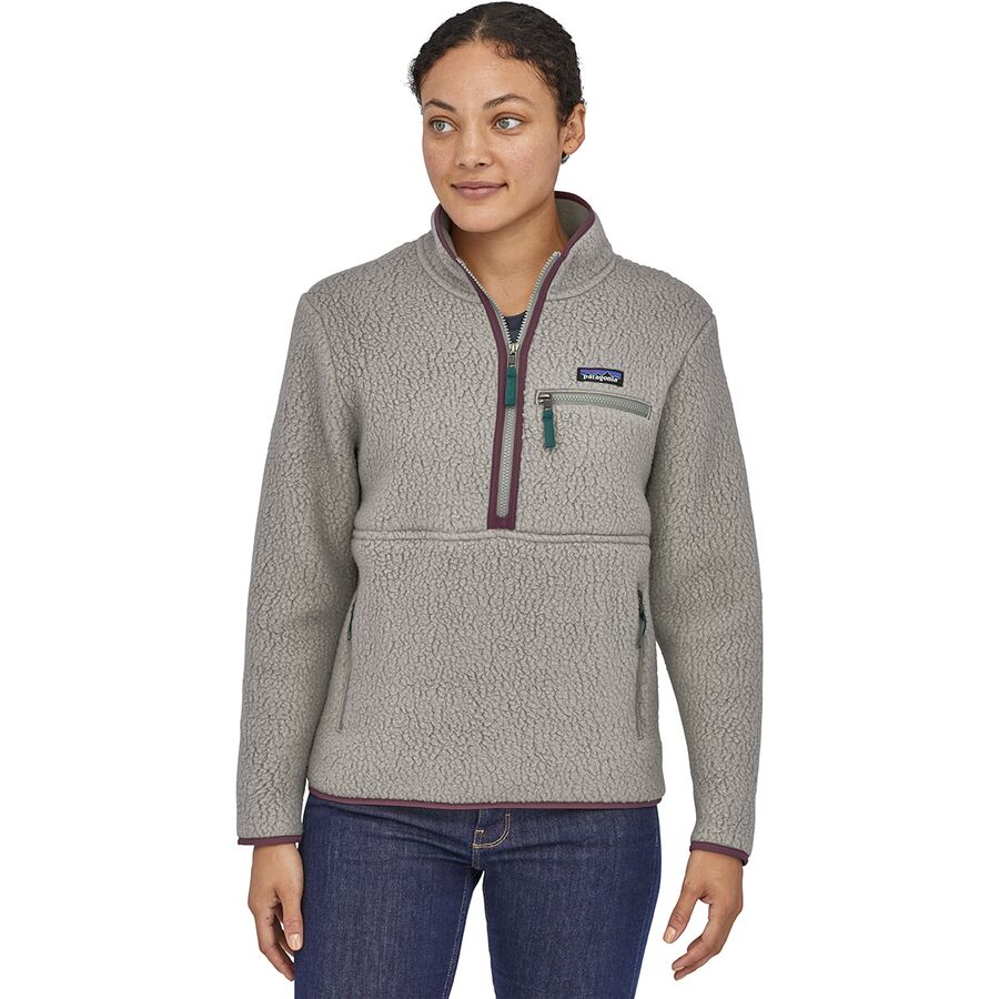 Patagonia - Retro Pile Marsupial Pullover - Women's - Feather Grey