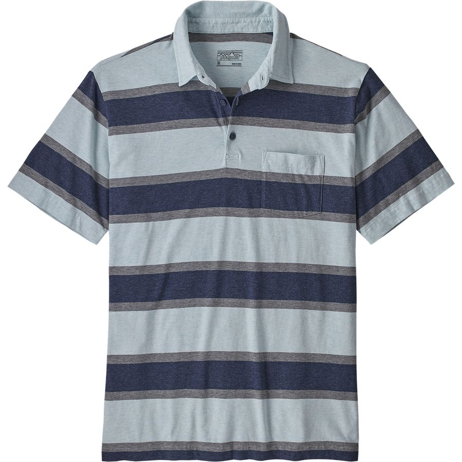 4dbef784ecdb Patagonia - Squeaky Clean Polo Shirt - Men's - Rugby Stripe/Atoll Blue