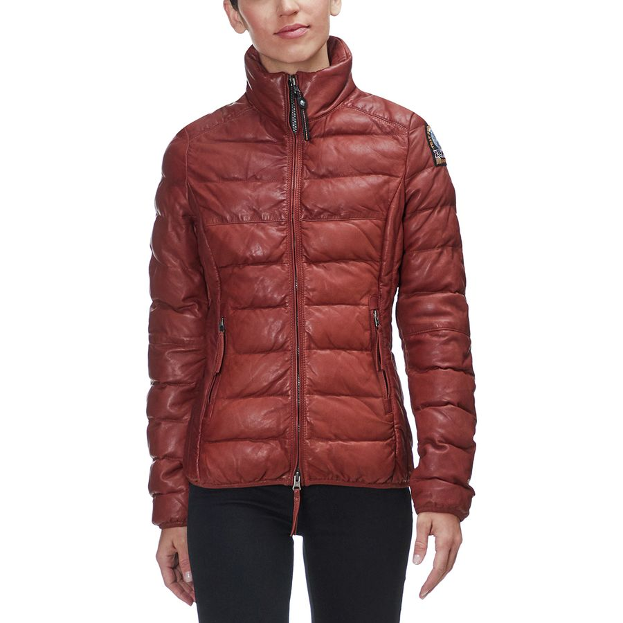 Parajumpers Jodie Leather Down Jacket - Womens