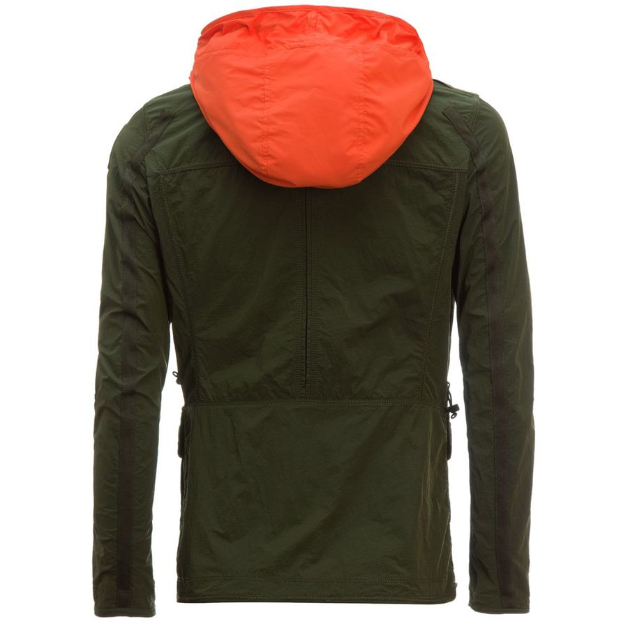 parajumpers desert windbreaker jacket blue black