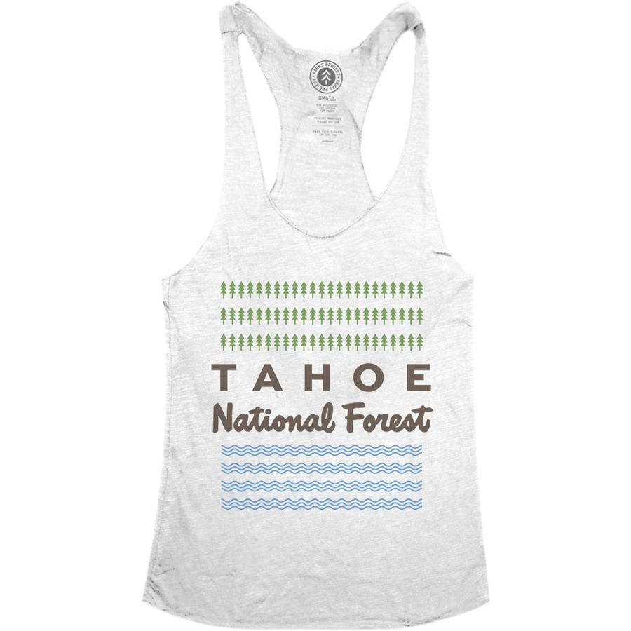 Parks Project Tahoe Lake & Trees Racerback Tank Top - Womens