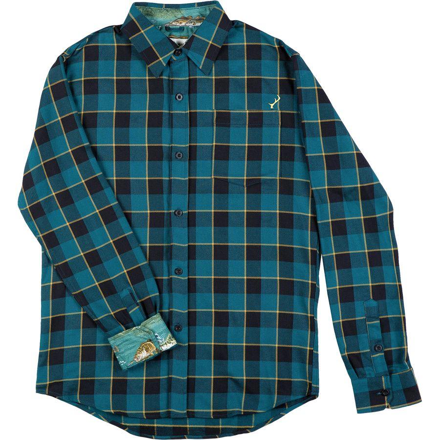 Pladra Elli Steel Blue Flannel Shirt - Mens