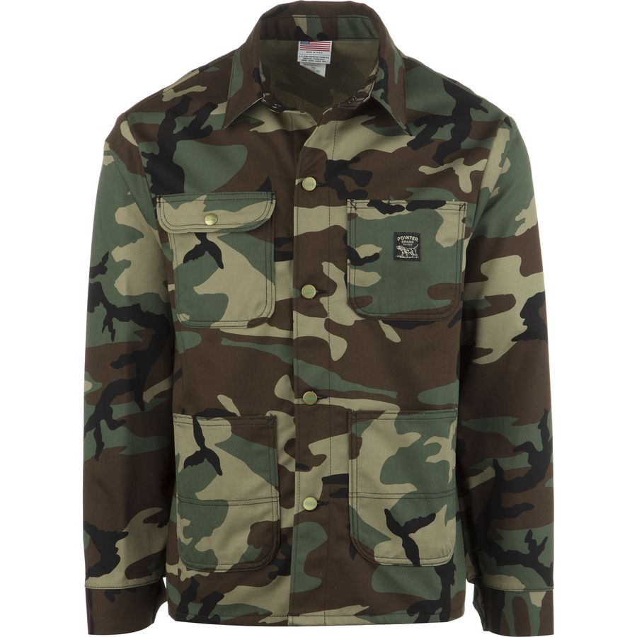 Pointer Brand Woodland Camo Chore Coat - Mens