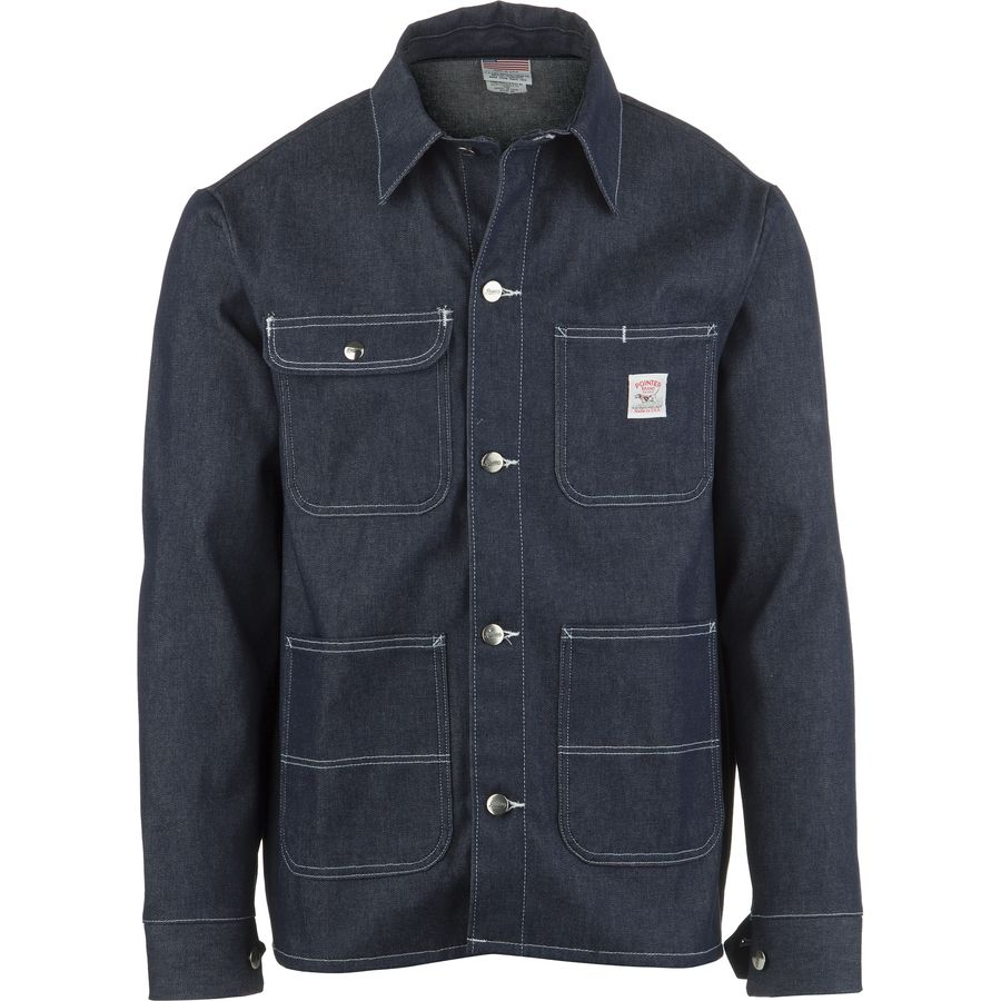 Pointer Brand Indigo Denim Raw Cone White Oak Chore Coat