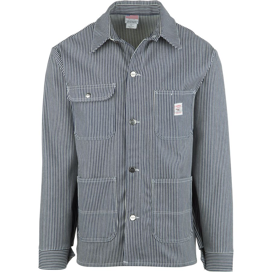 Pointer Brand Hickory Stripe Chore Coat - Mens