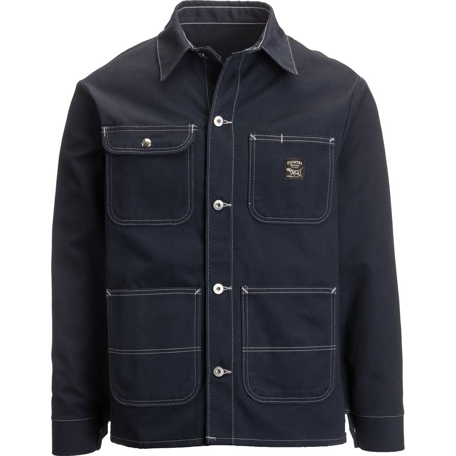 Pointer Brand Navy Duck Chore Coat - Mens