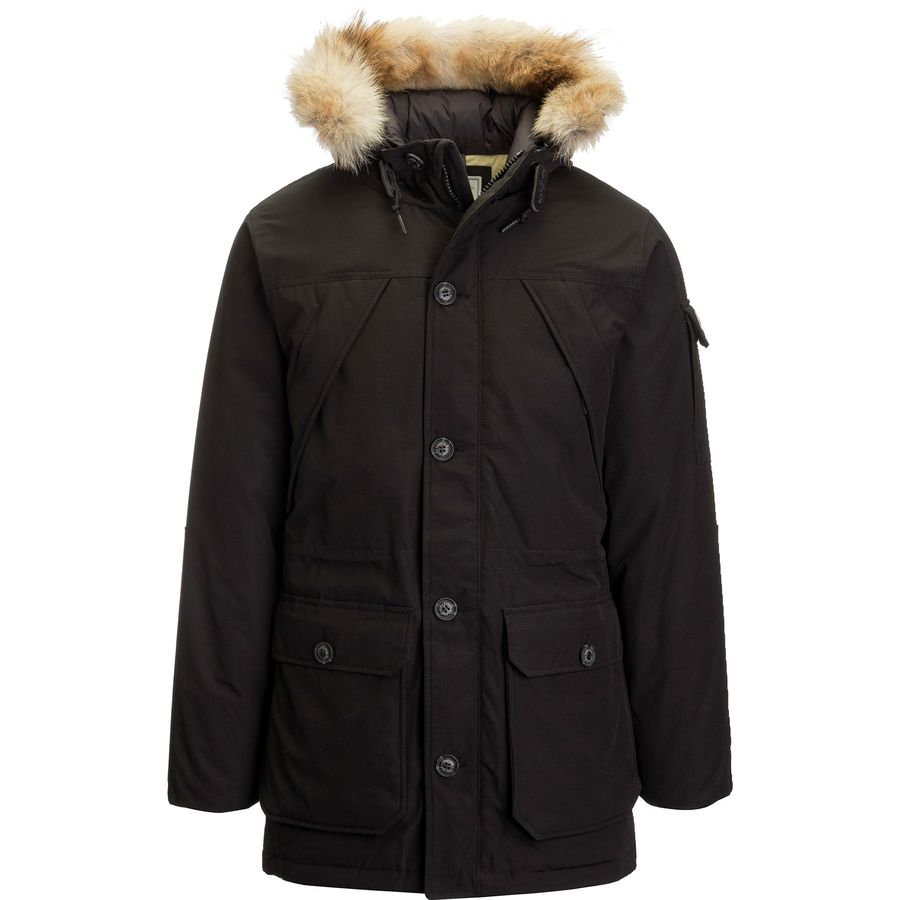 Penfield Hoosac Real Fur Hooded Down Mountain Parka Men