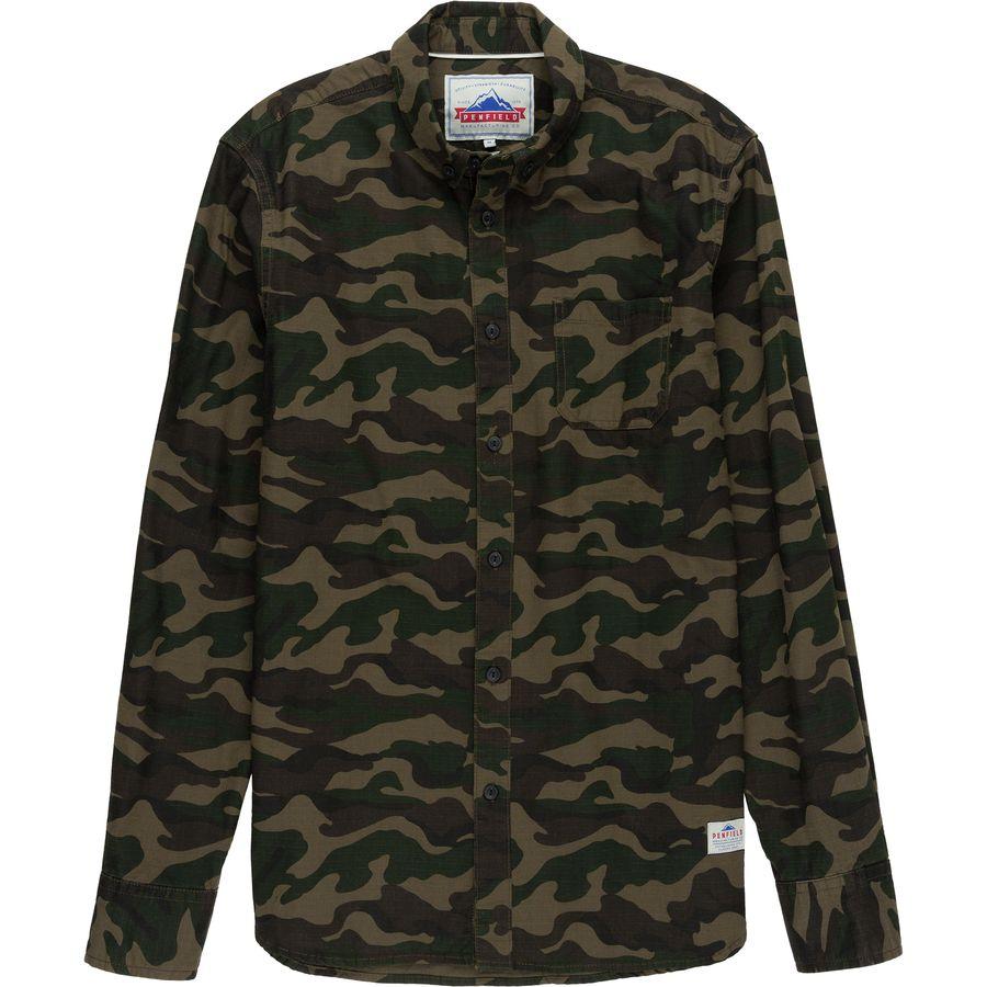 Penfield Gridley Camo Shirt - Mens