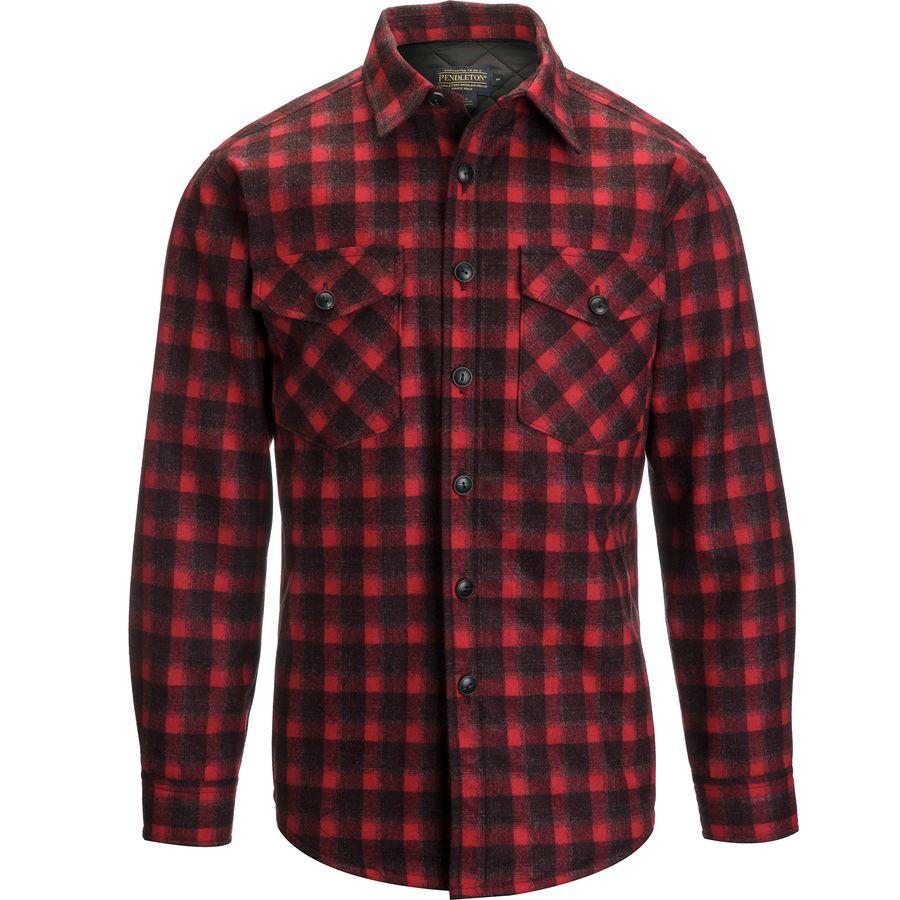 Mens Red Plaid Flannel Shirt